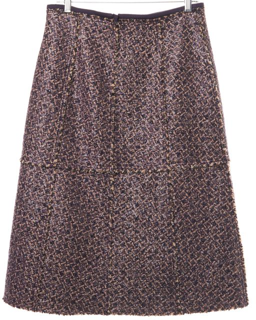 TORY BURCH Violet Purple Sequin Embellished A-Line Skirt