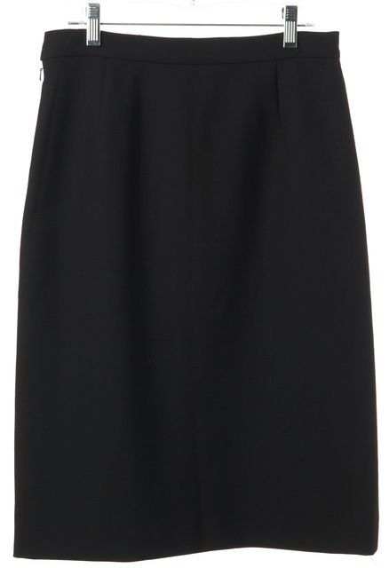 TORY BURCH Black Knee Length Straight Skirt
