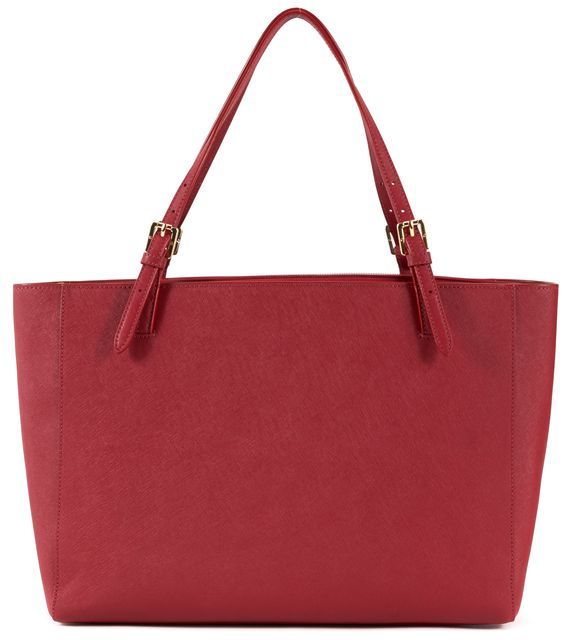 TORY BURCH Red Saffiano-Leather Large York Tote