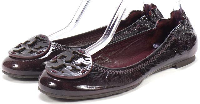 TORY BURCH Purple Patent Leather Reva Ballet Flats