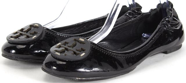 TORY BURCH Patent Leather Logo Ballet Flats