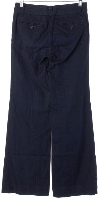 TORY BURCH Blue Denim Flared Leg Trouser Jeans