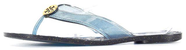 TORY BURCH Blue Glitter PVC Slip-on Sandals Size Fits Like 7