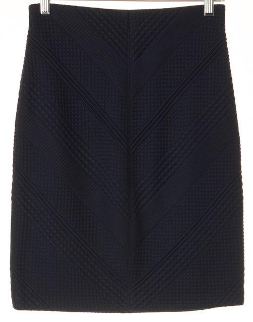 TORY BURCH Navy Blue Polyamide Blend Stretch Knit Skirt