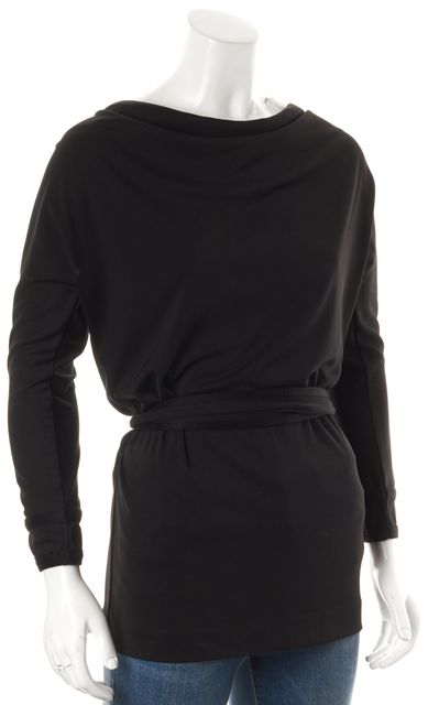 TORY BURCH Black Tie Waist Blouse Top