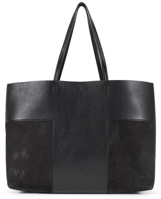 TORY BURCH Black Leather Block-T Tote w/ Wristlet
