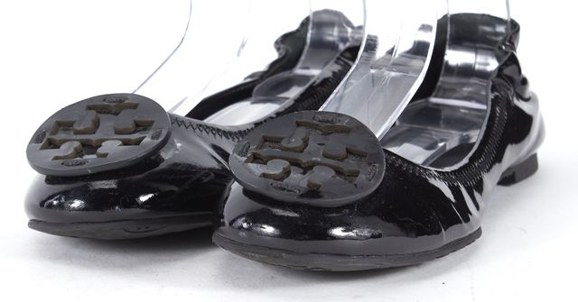 TORY BURCH Black Patent Leather Ballet Flats