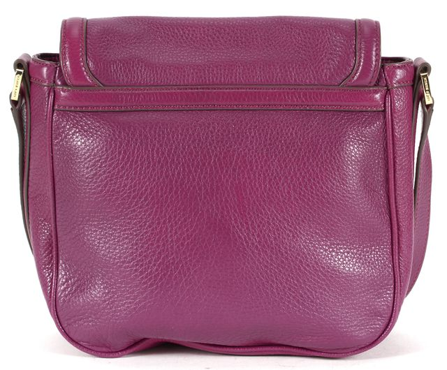 TORY BURCH Purple Pebbled Leather Adjustable Strap Crossbody