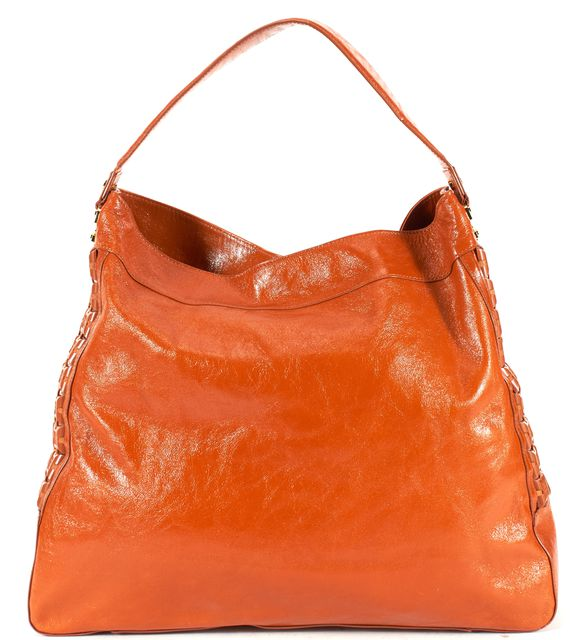 TORY BURCH Brown Leather Gold-Tone Hardware Hobo Tote