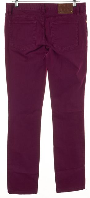 TORY BURCH Purple Stretch Cotton Denim Ivy Super Skinny Jeans