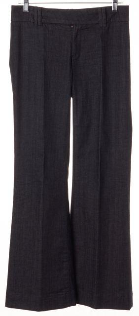 TORY BURCH Blue Flap Pocket Flare Trousers Pants