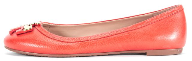 TORY BURCH Blood Orange Leather Ballet Flats