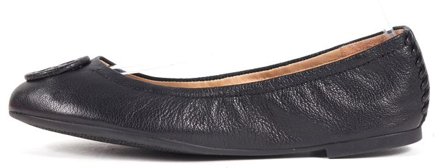 TORY BURCH Black Capri Leather Allie Ballet Flats