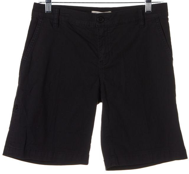 TORY BURCH Solid Black Bermuda Shorts