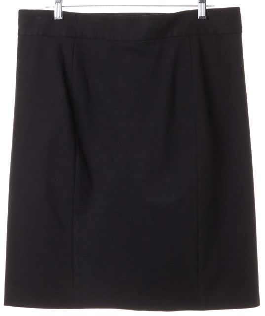 TORY BURCH Solid Black Medallion Button Side Pencil Skirt