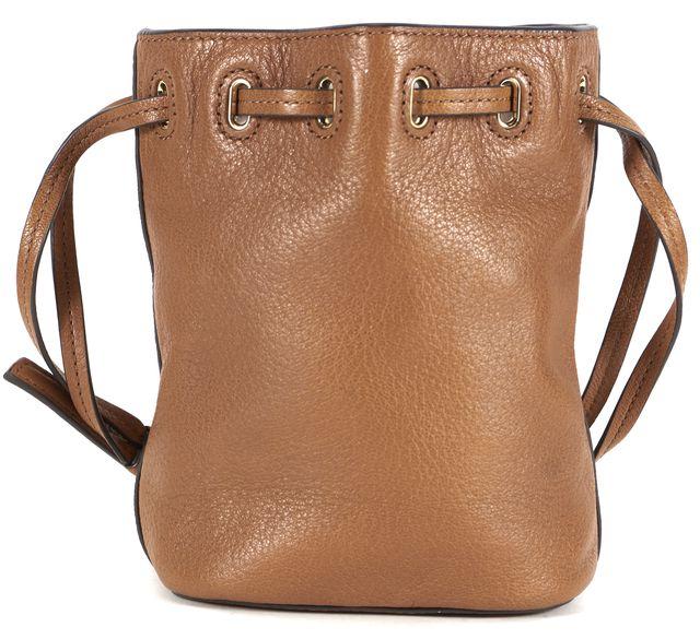 TORY BURCH Brown Leather Brody Mini Bucket Shoulder Bag