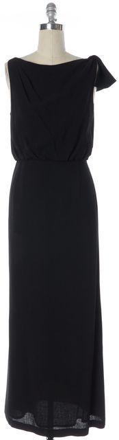TORY BURCH Black Wool Sleeveless Maxi Blouson Dress
