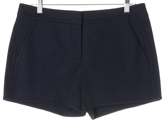 TORY BURCH Navy Blue Cotton Mini Casual Shorts