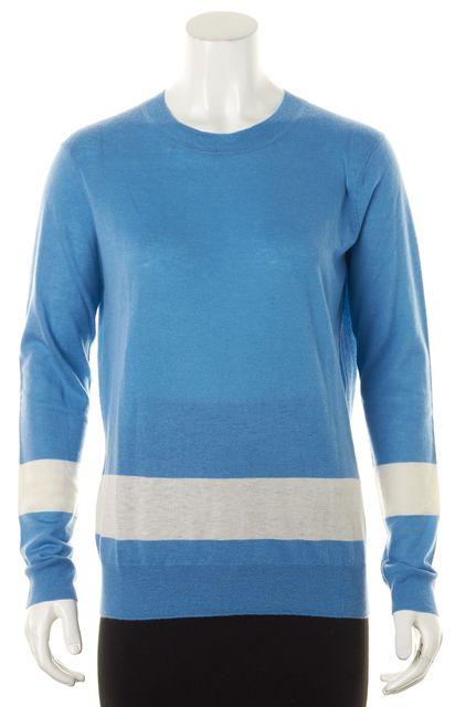 TORY BURCH Blue Striped Crewneck Sweater
