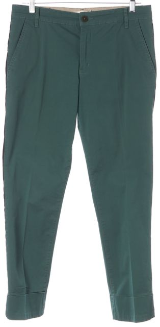 TORY BURCH Green Black Side Panel Head For The Hills Casual Pants