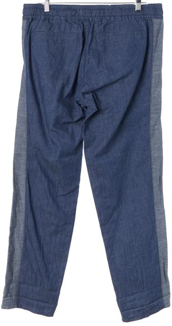 TORY BURCH Blue Chambray Allegra Ribbon Jogger Pants
