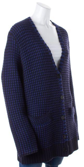 TORY BURCH Navy Blue Striped Sweater Coats