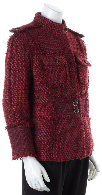 TORY BURCH Red Tweed Basic Jacket