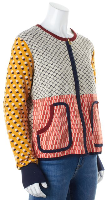 TORY BURCH Multi-color Geometric Cardigan