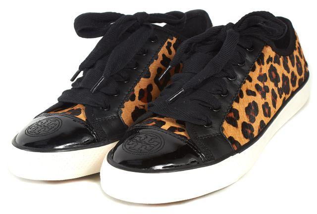 TORY BURCH Brown Leopard Animal Print Sneakers