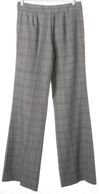 TORY BURCH Gray Houndstooth Wool Trouser Dress Pants