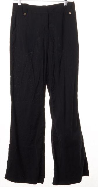 TORY BURCH Black Wool Straight Leg Trouser Dress Pants