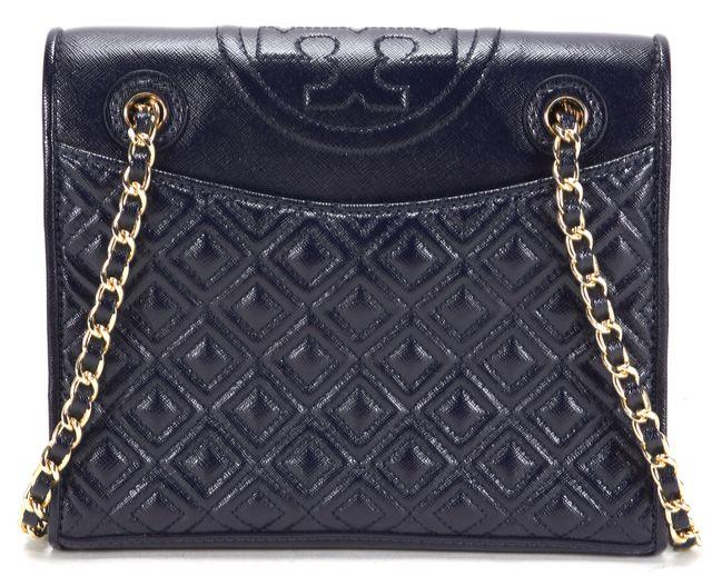 TORY BURCH Navy Blue Leather Chain Strap Crossbody Shoulder Bag