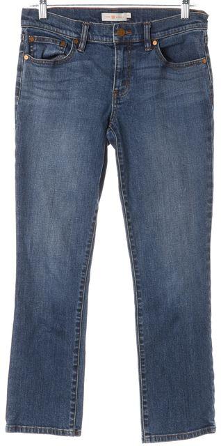TORY BURCH Blue Straight Leg Jeans