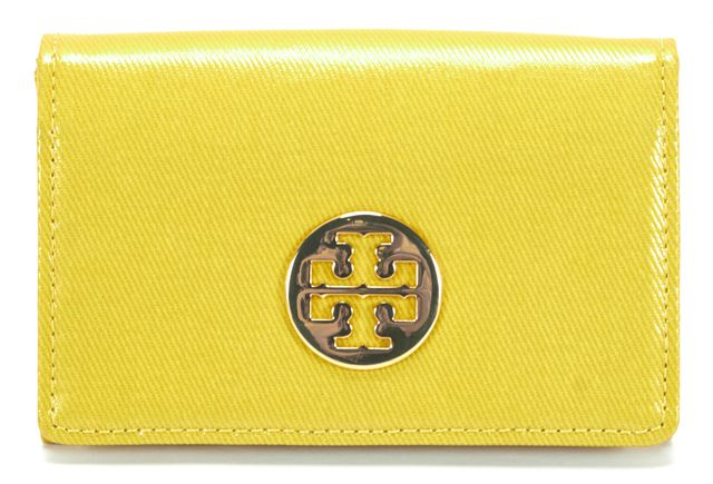 TORY BURCH Yellow Flap Business Card Case