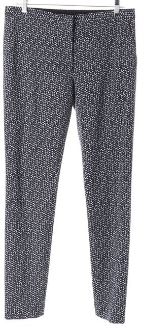 TORY BURCH Blue White Abstract Dress Pants