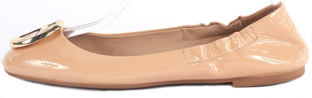 TORY BURCH Beige Patent Leather Flats