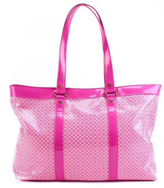 TORY BURCH Pink Abstract Leather Tote