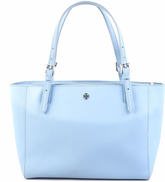 TORY BURCH Blue Leather Tote Handbag