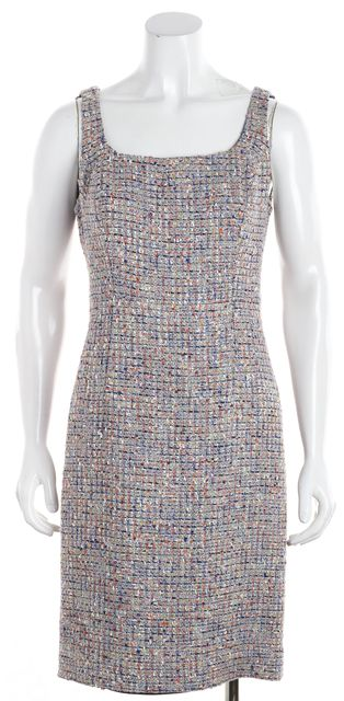 TORY BURCH Multi-color Tweed Sheath Dress