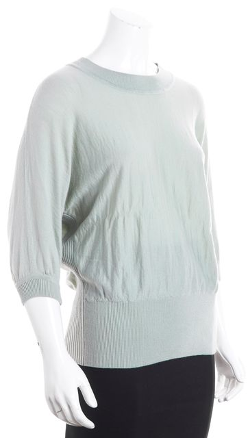 TORY BURCH Fern Wool Dolman Crewneck Knit Sweater