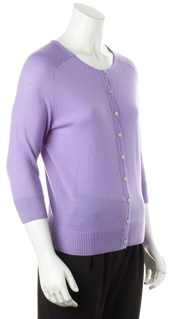 TORY BURCH Purple Wool Cardigan