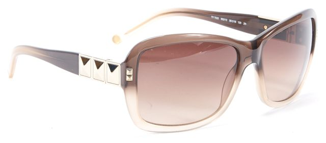 TORY BURCH Brown Gradient Acetate Square Sunglasses w/case