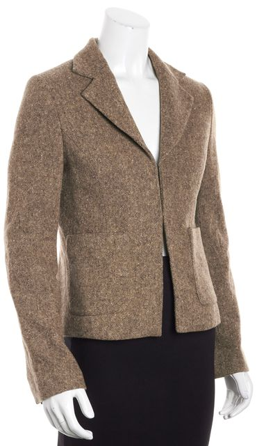 TORY BURCH Brown Tweed Wool Jacket
