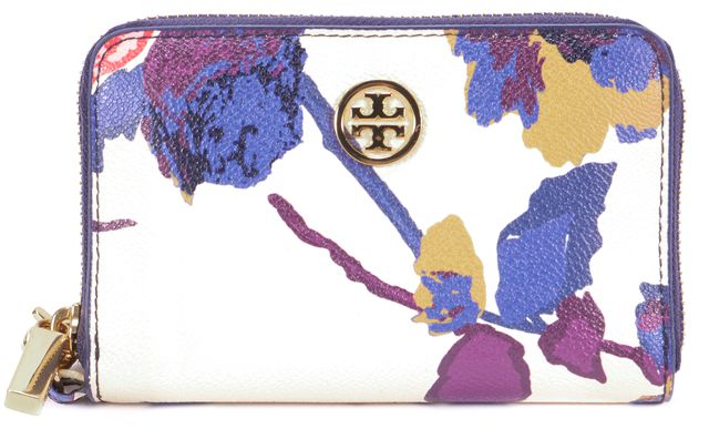 TORY BURCH Floral Multi-color Leather Wallet