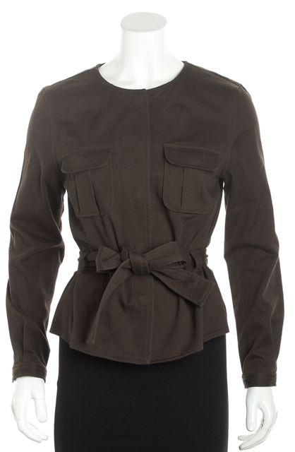 TORY BURCH Brown Utility Belted Jacket