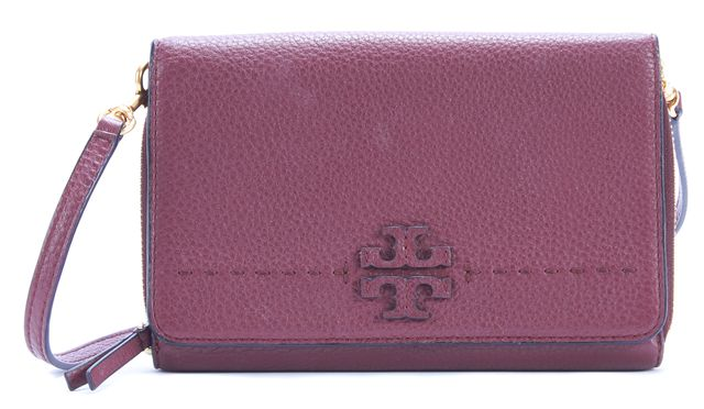 TORY BURCH Red Leather Crossbody