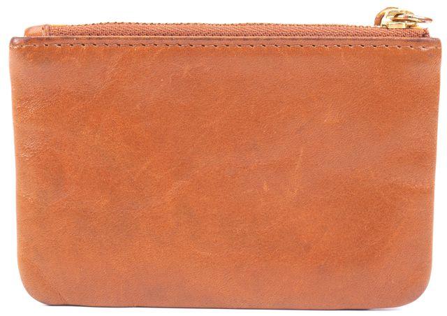 TORY BURCH Tan Leather Key Chain & Bag Charm