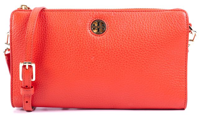 TORY BURCH Red Gold Hardware Leather Crossbody