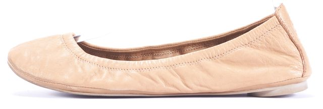 TORY BURCH Tan Leather Ballet Flats