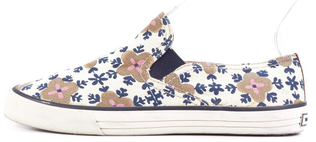 TORY BURCH Multi-color Floral Elasticized Canvas Sneaker Flats